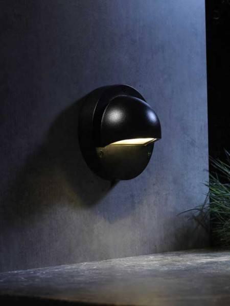 Wandleuchte 'Deimos black' von Garden-Lights (Art.Nr. 3132011)