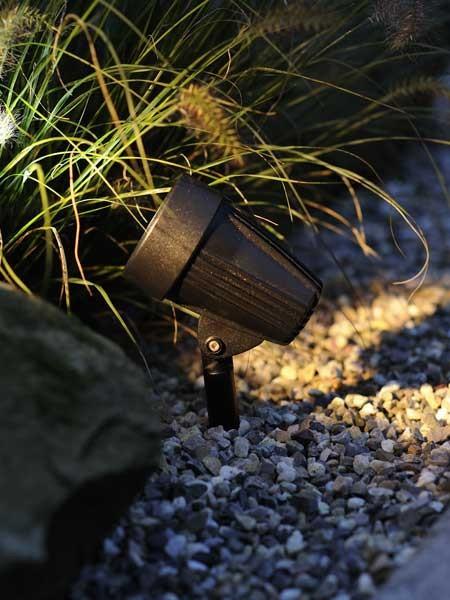 Corvus Sportstrahler als Beispiel im Garten