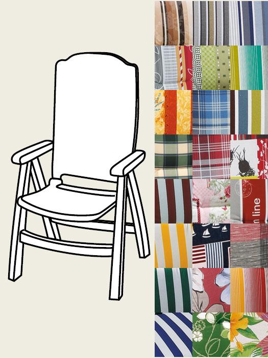 auflagen hochlehner auflagen gartenmoebel profi. Black Bedroom Furniture Sets. Home Design Ideas