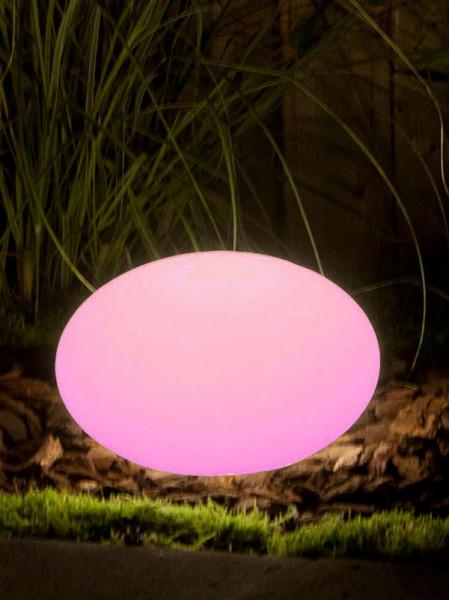 Sphärenleuchte Oval 28 pink
