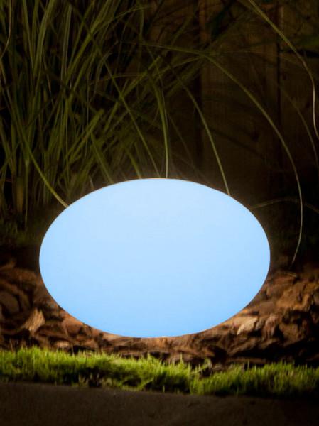 Sphärenleuchte Oval 28 blau
